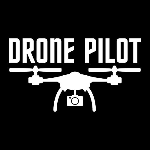 Drone Pilot Vinyl Decal Sticker | Cars Trucks Vans SUVs Walls Cups Laptops | 5 Inch | White | KCD2682