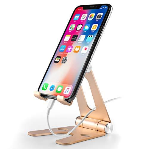 SunshineFace Plegable giratorio de aleación de aluminio escritorio montaje teléfono titular de la tableta soporte soporte para 3. 5 ~ 10 pulgadas teléfonos móviles tabletas iPhone iPad aire Samsung