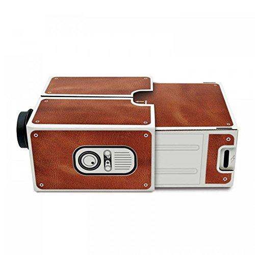 Docooler Mini Smartphone Projektor Kino Tragbare Heimgebrauch DIY Karton Projektor Familie Unterhaltung Projektive Gerät