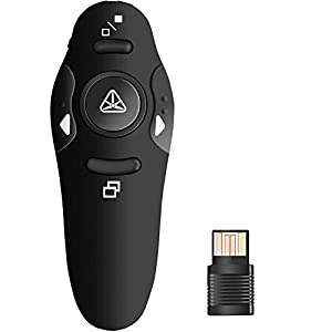 househome Presentador inalámbrico, 2.4GHz Bluetooth USB Presenter PowerPoint Puntero Clicker Control Remoto Laser Pointer