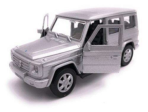 H-Customs Mercedes Benz G Klasse Modellauto Auto Lizenzprodukt 1:34-1:39 Silber