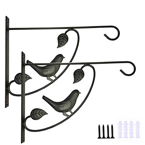 SUNTAOWAN Wrought Iron Basket Bracket Hook Bracket Lantern,Flower Pot Plant Hanger Suitable for Outdoor Indoor Hanging Bird Feeder Wind Chime Plant Lantern