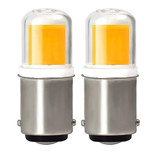 MENGS 2-er Pack B15D LED Lampe 4W LED Leuchtmittel Mit Keramik + Glas 3000K Warmweiß Ersetzt 30W Halogenlampen AC 220-240V