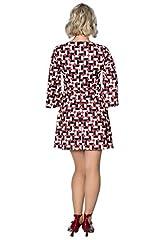 Banned Mod Circles Dress - UK-16 Brown #1