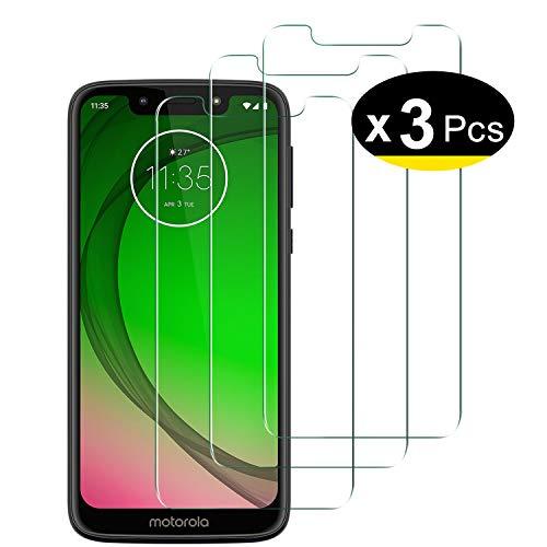 NEW'C 3 Stück,PanzerglasFolie Schutzfolie für Motorola Moto G7 Play, Frei von Kratzern Fingabdrücken & Öl, 9H Festigkeit, HD Bildschirmschutzfolie, 0.33mm Ultra-klar, Bildschirmschutzfolie
