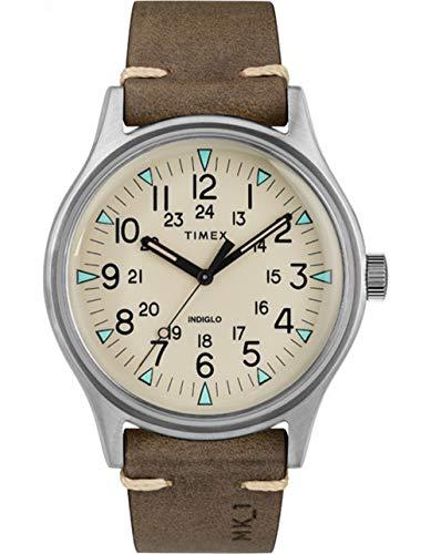 Timex MK1 Acero 3-Hand, MK1 Acero 3 Manos, Marrón, Una talla
