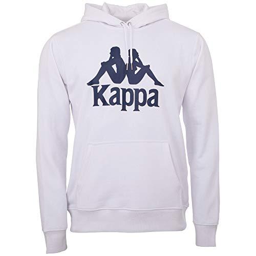 Kappa Taino – Sudadera con Capucha para Hombre, Estilo Retro, Talla S-XXL, Hombre, 705322, Blanco (001 White), Medium