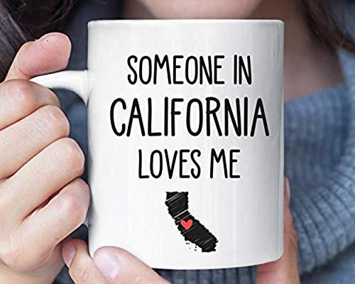 Someone In California Loves Me Coffee Mug Long Distance Relationship Boyfriend Moving Away Going Away Friendship G1PIK3