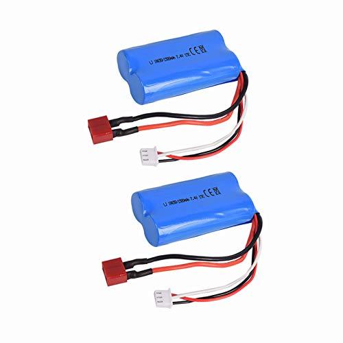 2 pcs 7.4V 1500Mah T Plug li-on Battery for Wltoys 12428 12423 RC Toy Car