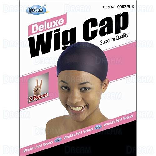 Fashion DREAM Deluxe Wig Cap Black 2 BLACK 097 cap Spandex pc Model: Max 72% OFF