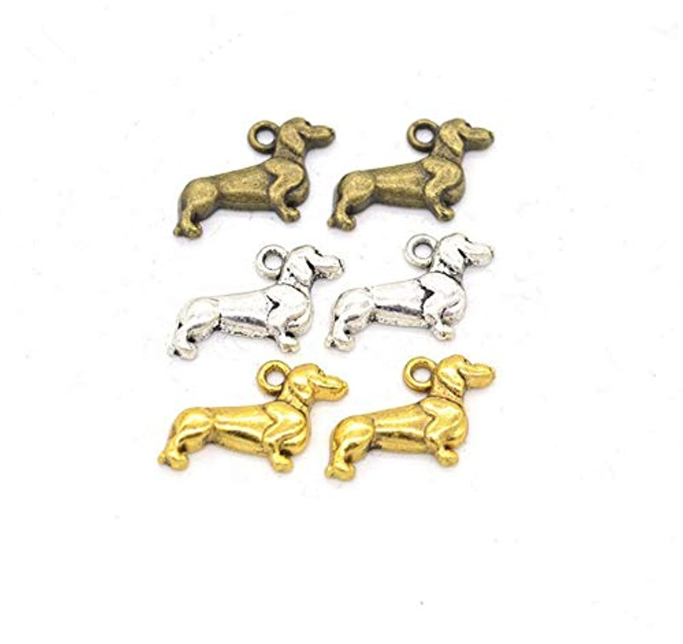 70pcs Mixed Dachshund Charms for Jewelry Making DIY Charms Handmade Necklace Girls Kids Accessory