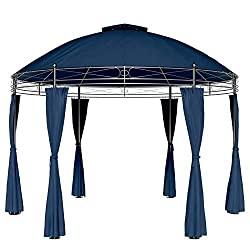 Blue Metal Gazebo by Deuba (Toscana) 1