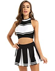 Lingeriesets Dames Vrouwen School Outfits Student Cheerleader Sexy Kostuum Uniform Outfit Top MetGeplooide Rok