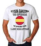 KRISSY Si Esta Bandera Te Ofende Te Ayudo con Las Maletas Men's T-Shirt Hombre Camiseta Small