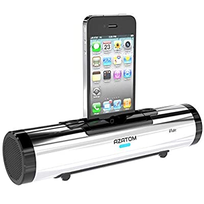 AZATOM iFLUTE iPhone Docking Station speakers for iPhone 3 4 speakers - Remote control (Silver) by AZATOM