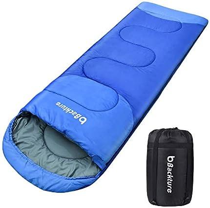 BACKTURE Saco de Dormir para Acampar, Sacos Dormir Adulto Impermeable con Bolsa de Compresión, para Viajes, Camping, Senderismo, Excursiones y Actividades al Aire Libre, 220x80cm