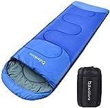 BACKTURE Saco de Dormir para Acampar, Impermeable con Bolsa de Compresión, 3 Estaciones 5~25℃, para Viajes, Camping, Senderismo, 220x80cm