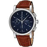 Muhle Glashutte Teutonia II cronografo da uomo automatico – quadrante blu con data giorno e vetro zaffiro – orologio di precisione Made in Germany M1-13,6-41,7 kg