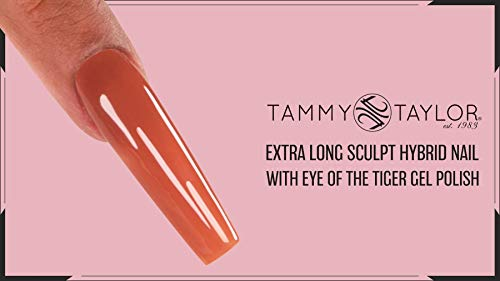 Tammy Taylor Extra Long Sculpt Eye of the Tiger Bundle Kit   Completely Orderless Nail System   Hard Like Acrylic and Cures Like Gel (Bundle)