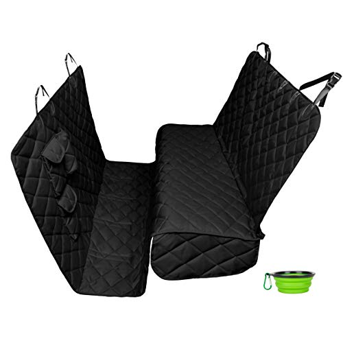 Tapiona XXL Dog Seat Cover - 63Wx94L Black Color Back Seat Cover for Cars,...