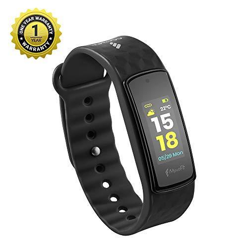 MevoFit Bold HR Fitnessarmband & Smart-Fitness-Uhr für Sportler & Sport PRO mit Farbdisplay XXL Schwarz