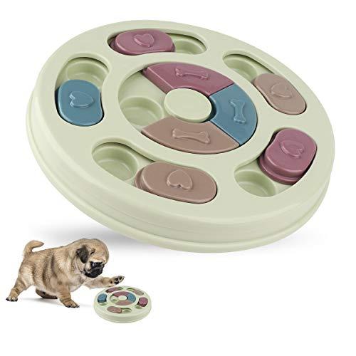 KOLLNIUN Puzzle-Futterstation für Hunde, interaktives Hundespielzeug, Welpen-Leckerchenspender,...