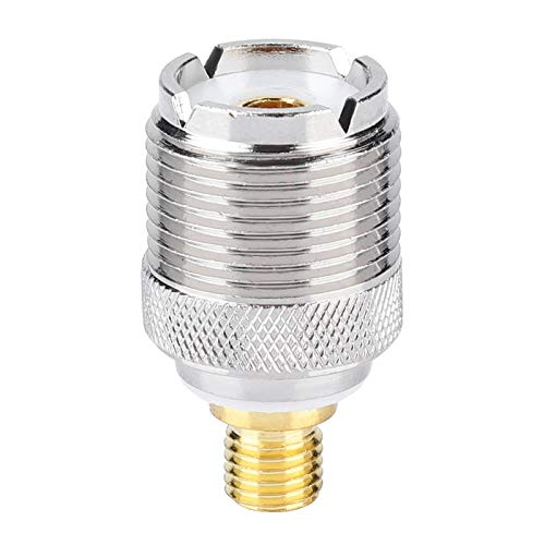 Mxzzand Adaptador de antena de conector coaxial resistente al desgaste portátil a prueba de óxido duradero para radio bidireccional compatible con GP328 GP300 GP88 GP340 para Walkie Talkie