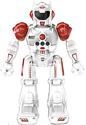 Robot teledirigido superior de la raza para los niños - Robots de RC con las luces LED, juguetes infrarrojos del control; Cantar, bailar, hablar, dos modos de caminar,