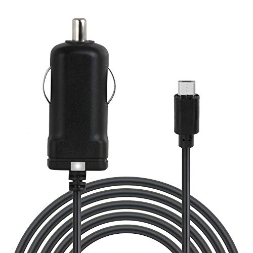 Wicked Chili microUSB KFZ Ladekabel extra lang 150cm kompatibel mit Samsung, Huawei, Xiaomi, Blackview, Vivo, Realme und Tablet (Kabellänge: 1,5 m, 12/24V, 1,000mAh, LED)