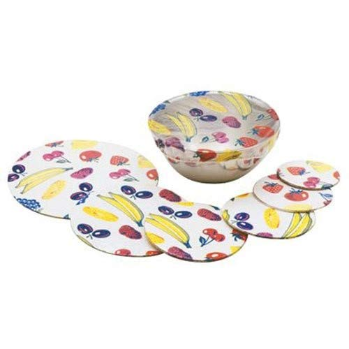 NORPRO Plastic Bowl Covers, 6 Piece Set, 3-Inch to 10-Inch, Multicolored