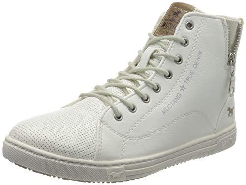 MUSTANG Damen 1349-501-1 Hohe Sneaker, Weiß (Weiß 1), 38 EU