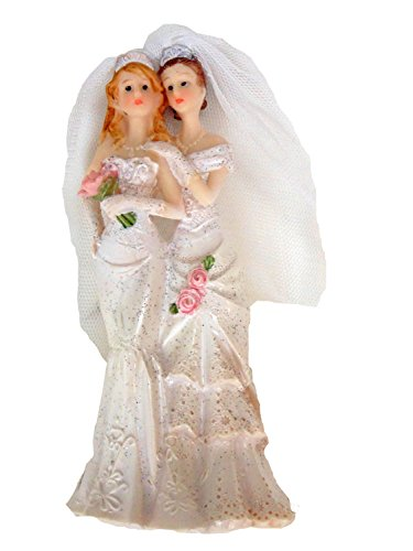 Lesbian Bridal Cake Topper 5' High