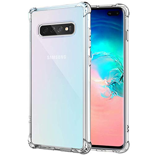 Galaxy S10 Plus Case Ultra Crystal Clear Shockproof Bumper Protective...
