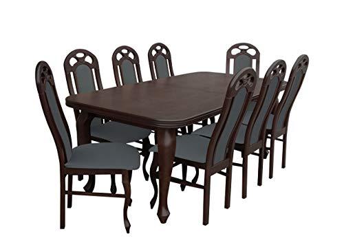 Mirjan24 Esstisch Stuhl Set RB10 Essgruppe, Tischgruppe, Große Farb- und Materialauswahl, Sitzgruppe Esstischgruppe, Esszimmergarnitur (Nuss, Granada 2725)