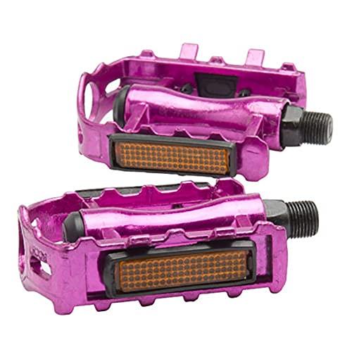 Ayughj Material de aleación de Aluminio Ultraligero de 2pc Bicycle Strong y Duradero Adecuado para la mayoría de Las Bicicletas Multi-Color Opcional (Color : Red)