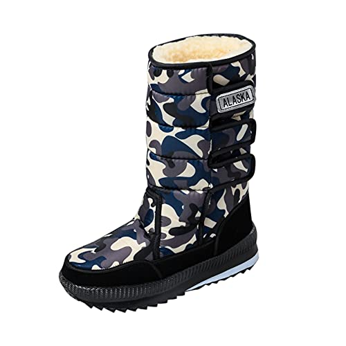 Men's Snow Boots Waterproof Insulated Fur Liner Winter Boots Non-Slip Outdoor Ski Fishing Hiking Warm Boots