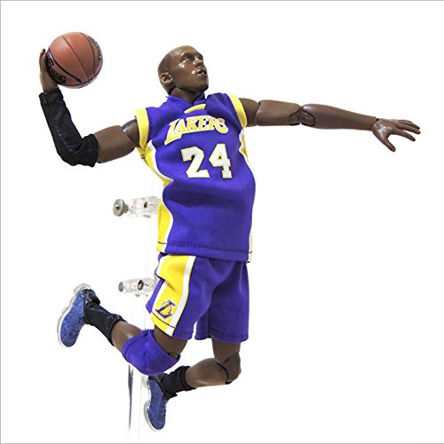 MXUS 1/9 Kobe Bryant Action Figure Sports Fan Statue Toy Figurines NBA Finals Action Basketball Player Memorabilia Gifts Stands Approx 8.4-Inches Tall
