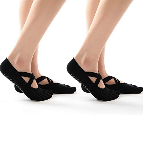ALXLX Yoga Pilates, voor dames, voor barre dans, trampoline, thuis, workout fitness, anti skid grip sokken