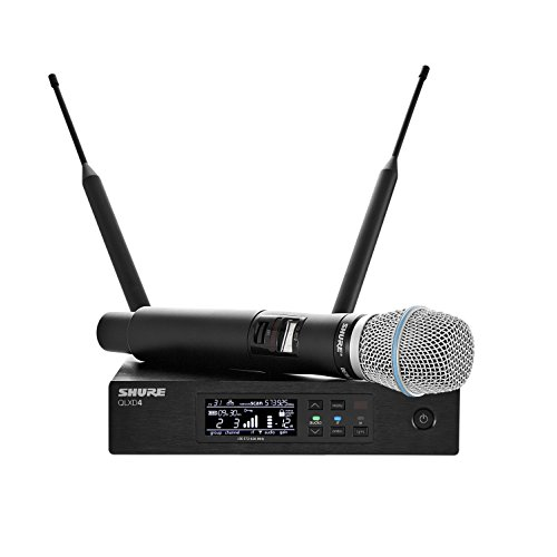 Shure QLXD24/B87A Wireless Microphone System with BETA 87A Handheld Vocal Mic