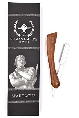 Rasoio a Mano Libera Spartacus con Set di 20 Lamette (Astra-Derby-Shark-Voskhod)