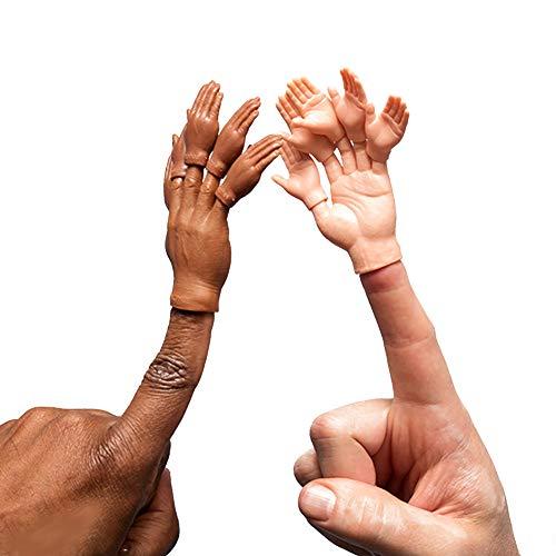 ACC Set of Ten Rubber Finger Hands for Two Finger Hands Mini Puppets