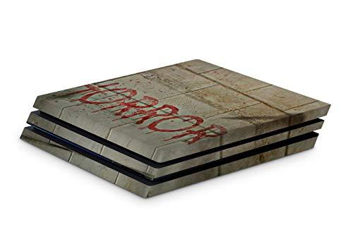 Skins4u Aufkleber Design Schutzfolie Vinyl Skin kompatibel mit Sony PS4 Playstation 4 Pro horror