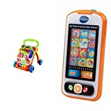 VTech Sit-to-Stand Learning Walker and Touch and Swipe Baby Phone Frustration-Free Packaging Bundle