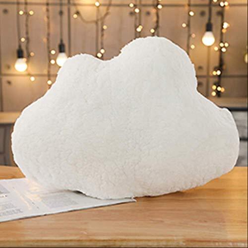 hokkk Cuscini Peluche Sky Emotional Moon Star a Forma di Nuvola Cuscino Rosa Bianco Grigio Room Chair Decor Cuscino per Sedile 55cm * 45cm B