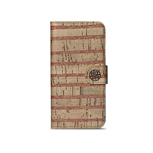Reveal - Funda Tipo Cartera para iPhone 6S y 6-14SC0826NTR (Corcho), diseño de Rayas