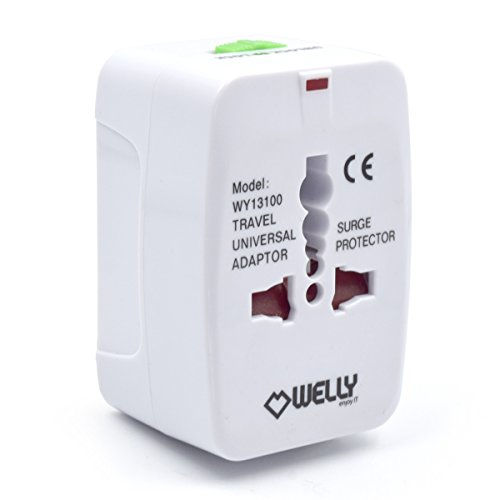 Welly Enjoy IT WY13100 - Adaptador Compacto de Viaje Universal para Enchufes Eléctricos, Color Blanco