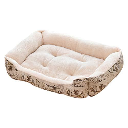 SFBBBO cat bed dog bed Soft Warm Thick Short Plush Velvet Dog Bed Washable Dog Kennel Deep Sleep Dog House Velvet Mat Sofa For Large Dog Basket Pet Bed 70x52cm 4