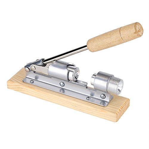 galleta de nuez galleta manual para servicio pesado de nueces cascanueces de pacana abridor de herramientas de cocina de escritorio con base y mango de madera para nueces avellanas nueces y almendras