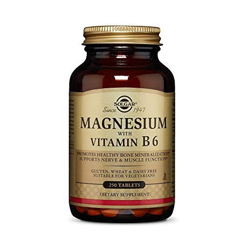 Solgar Magnesio con Vitamina B6-250 Tabletas