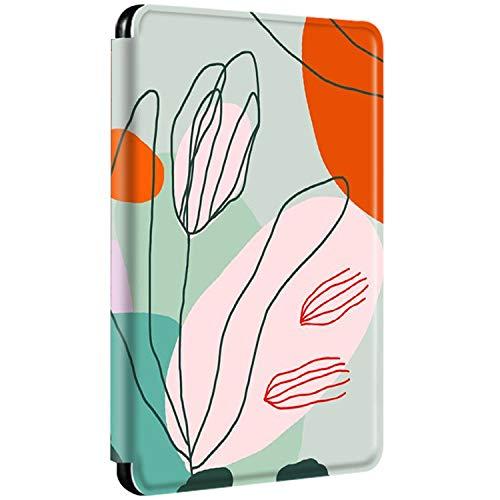 Funda Kindle Paperwhite 2012 2013 2015 Flip Carcasa Ultra Delgado PU + PC Magnética Patrón Estuche Automático Despertar o Dormir Función Cuero Caja para Kindle Paperwhite 1 2 3 (4)
